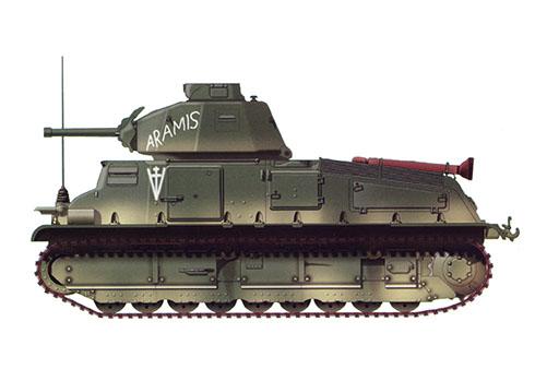Somua S-35 ''Aramis'' perteneciente al 13º Regimiento de Dragones, Liberación de Royan Pocket, 1945.