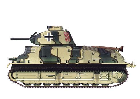 Somua S-35, capturado por los nazis y asignado a la 202ª Panzer División, Balcanes, 1944.