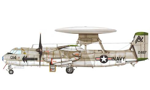 Grumman E-2 B Hawkeye, VAW-88, US Navy, NAS Miramar, California, 1970.