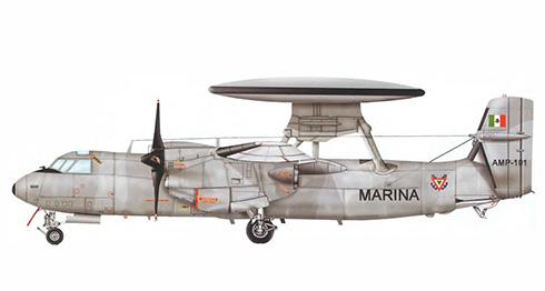 Grumman E-2 Hawkeye de la Armada Mexicana, 2003.