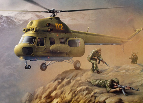 Helicóptero de transporte Mil Mi-2, Fuerza Aérea Soviética, Afganistán.