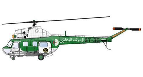 Mil MI-2 Hoplite de la Gendarmeria Nacional Algelina, 1990.