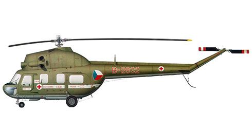 Mil Mi-2 S Hoplite. Ministerio del Interior, este helicóptero fue transferido a la Fuerza Aérea Checoslovaca, 1981.
