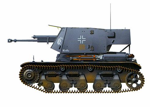 Panzerkampfwagen 35R(f) ohne Turm, con cañón Pak de 4,7 mm, Francia, 1941.