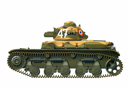R-35 perteneciente al 1er. Régiment de Chars de Combat, Marruecos, 1941.