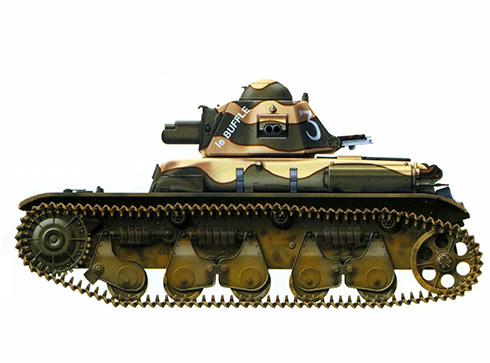 Renault R35 perteneciente al 12º Batallón de Carros de Combate, verano de 1940.