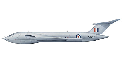 Handley Page Victor B1 perteneciente a la A&AEE (The Aeroplane and Armament Experimental Establishment) de la RAF, Base Aérea de Boscombe Down, 1956