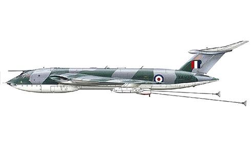 Handley Page Victor B(K)Mk.1 perteneciente al 214º Escuadrón, estos Victor B Mk.1 fueron convertidos en aviones cisternas y denominados Victor K Mk.1.