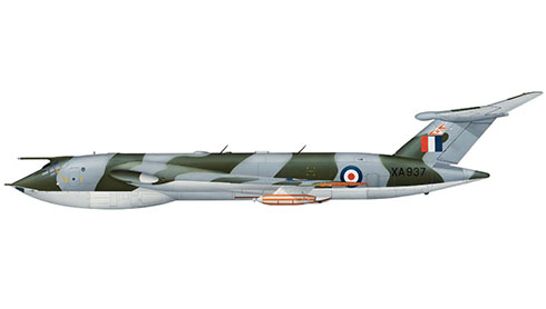 Handley Page Victor K1 perteneciente al 214º Escuadrón de la Royal Air Force, Base Aérea de Marham, 1966.