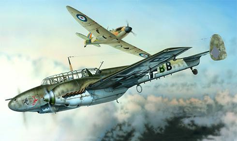 Messerschmitt Bf 110C, Luftwaffe, Francia, 1941.