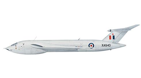 Victor B1 del 10º Escuadrón de Bombarderos Estratégicos de la RAF, Base Aérea de Cottesmore, 1958.