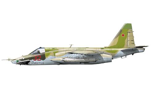 Sukhoi Su-25BM del 186º Regimiento de Asalto Aéreo, Fuerza Aérea Rusa, Kokayty, Uzbekistan, 1993.