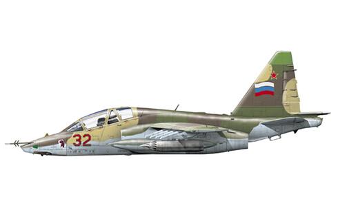 Sukhoi Su-25UB, 186º IShAP(Regimiento de Instrucción de Ataque), Fuerza Aérea Rusa, Gudauta, Abkhazia,1993.