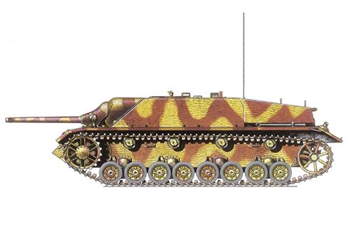 Jadgpanzer IV SdKfz. 162 Ausf F, 3er Batallón Panzer SS, 3ª División Panzer SS, Hungría, 1945.
