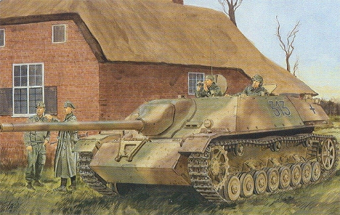 Jagdpanzer IV L-70 (V), en algún lugar de Francia, finales de 1944.