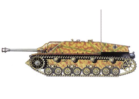 Jagdpanzer IV Sd.Kfz. 162 Ausf F del 3º Regimiento Panzer, Batallón ''Hermann Göring'', Italia, verano de 1944
