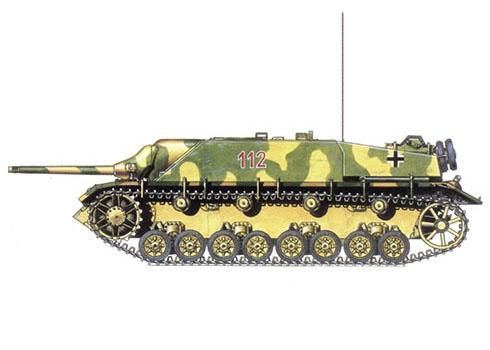 Jagdpanzer IV SdKfz. 162 Ausf F, 38ª Brigada Panzerjäger, 2ª División Panzer, Alemania, 1945.