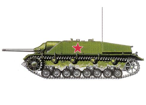 Jagdpanzer IV SdKfz. 162 Ausf F capturado por los soviéticos, 3ª División Ucraniana, Hungría, verano de 1944.