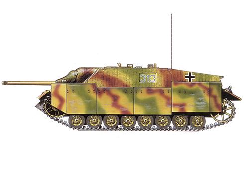 Jagdpanzer IV SdKfz 162 Ausf, F perteneciente a la 33ª Panzerjäger, 15º División de Granaderos Panzer, Italia, 1944.