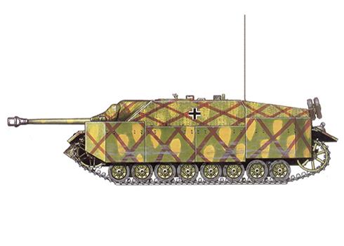 Jagdpanzer IV SdKfz. 162 Ausf F, unidad desconocida, Frente del Este, verano de 1944.