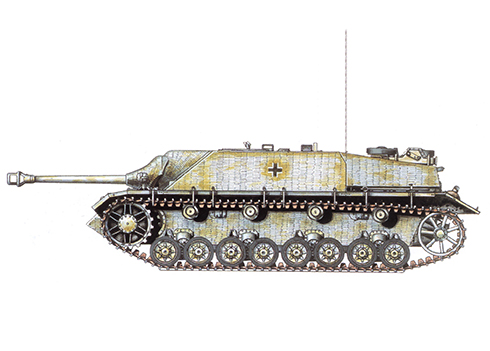 Jagdpanzer IV SdKfz 162 Ausf. F, unidad sin identificar, Hungría, primavera de 1945.