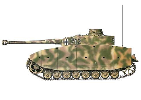 Panzer IV Ausf. H, perteneciente a la 1ª División SS Panzer '' Leibstandarte Adolf Hitler, 1944.
