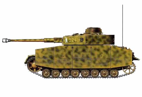 Panzer IV Ausf. H, perteneciente al 35º Regimiento Panzer, 4ª División Panzer, Frente del Este, verano de 1944.