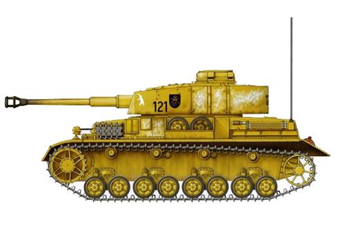 Panzer IV Ausf. H, perteneciente al 35º Regimiento Panzer, 4º División Panzer, Polonia, verano de 1944.