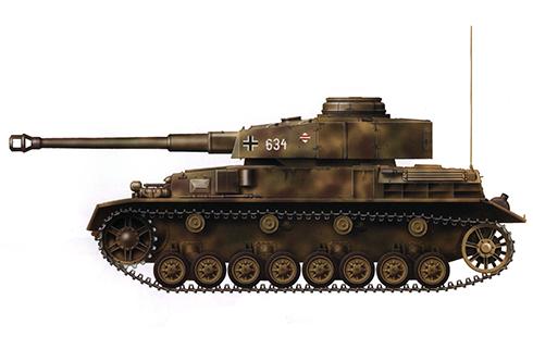 Panzer IV Ausf. J, 130ª División Panzer Lehr, Normandía, 1944.