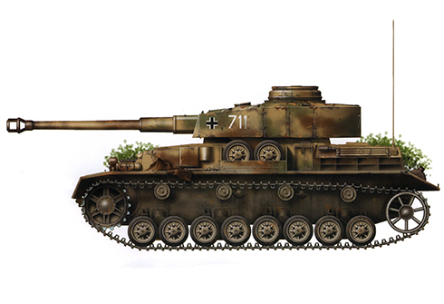 Panzer IV Ausf. J, 35º Regimiento Panzer, 4ª División Panzer, Gdansk, 1945.