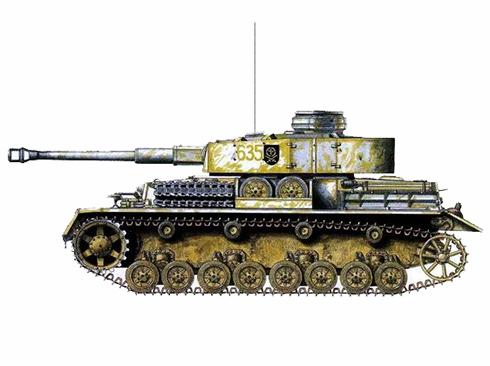 Panzerkampfwagen IV Ausf. G, 35º Regimiento Panzer, 4ª División Panzer, Península de Curlandia, 1944.