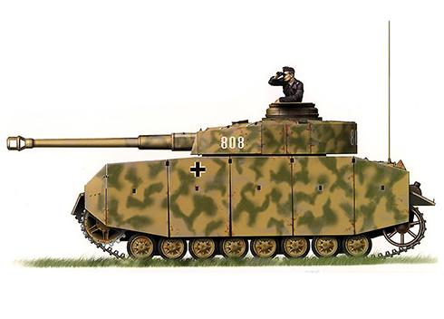 Panzerkampfwagen IV Ausf. H, 29º Regimiento Panzer, 12ª División Panzer, 1944.