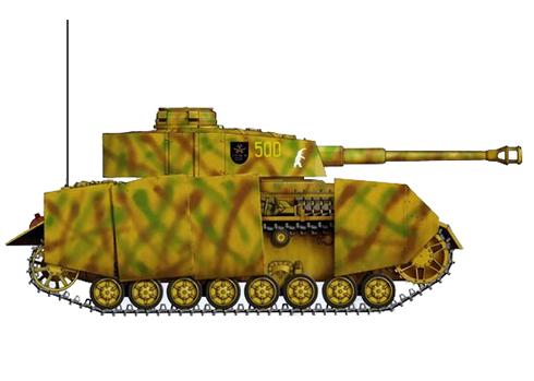 Panzerkampfwagen IV Ausf. H, 35º Regimiento Panzer, 4ª División Panzer, Polonia, verano de 1944.