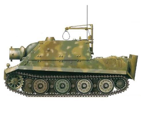 Sturmmörser Tiger, Compañía 1001, Batería de morteros pesados, Alemania, marzo de 1945.