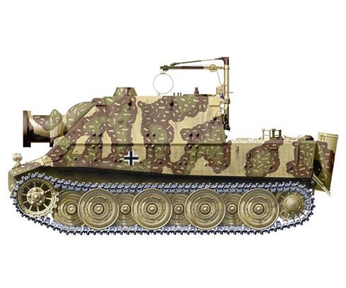 Sturmmörser Tiger, Compañía 1001, Batería de morteros pesados, Alemania, verano de 1945.
