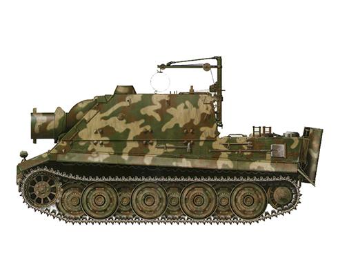 Sturmmörser Tiger, Compañía 1002, Batería de morteros pesados, Alemania, Abril de 1945.