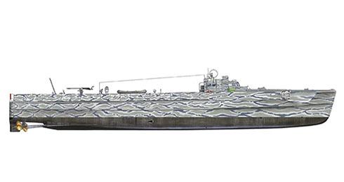 Este Schnellboot modelo S-38 fue asignado a operaciones diurnas contra barcos soviéticos en el Este del Báltico, 1941.