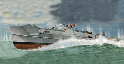 Este Schnellboot modelo S-38b patrullando las aguas del Canal de la Mancha en busca de barcos británicos en 1942.