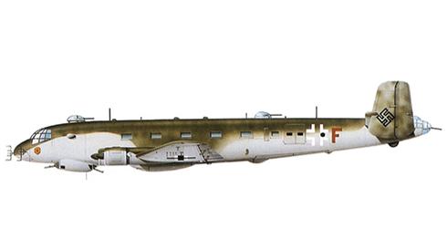 Junkers Ju-290 A5, Fernaufklärungsgruppe 5, Luftwaffe, Alemania,1944.