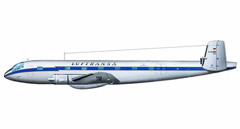 Junkers Ju-290 de Lufthansa destinado para transporte de civiles, 1950.