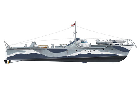 Lancha torpedera Vosper MTB-74, St. Nazaire Raid, Operación ''Chariot'', 1942.