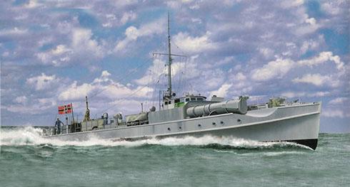 Schnellboot modelo S-7, navega por el Mar del Norte cerca de Noruega, 1940