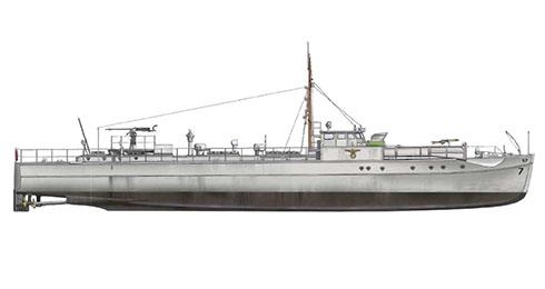 Schnellboot modelo S-7, realizando operaciones en el Mar del Norte, 1937.