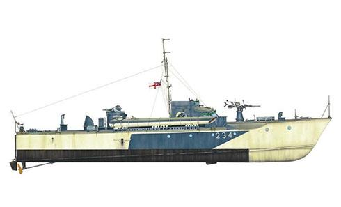 Vosper Motor Torpedo Boat, Royal Navy, 1942.